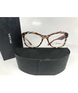 New Prada VPR 29R VAN-101 Transparent Orange/Gray Havana Eyeglasses 54mm... - $110.98