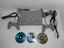 Playstation 1 PS1 SCPH-5501 Console w/ Games LOT Tested - $49.99