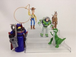 LOT (5) Disney Toy Story Lg Figures Woody Buzz Lightyear Bullseye Rex Zurg - $24.70