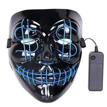 DINO Halloween Mask Terror Light Emitting LED Mask Halloween Role Playing - £15.29 GBP