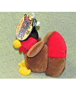 "6"" VINTAGE MR. GOBBLES BEANBAG TURKEY GIBSON GREETINGS PLUSH STUFFED HOL... - $14.85"