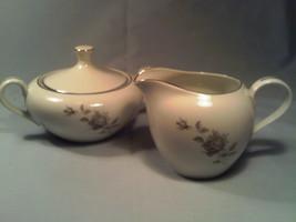 [Q15] BRISTOL Fine China FLOWER SONG Sugar Bowl & Creamer MADE IN JAPAN ... - $15.36
