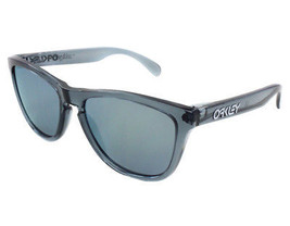 New Oakley FROGSKINS Limited Edition Crystal Black w/Emerald Iridium  03-291 - $171.50