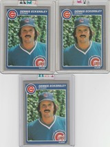 1985 Fleer Cubs Dennis Eckersley #57 Lot of 3 - $2.00