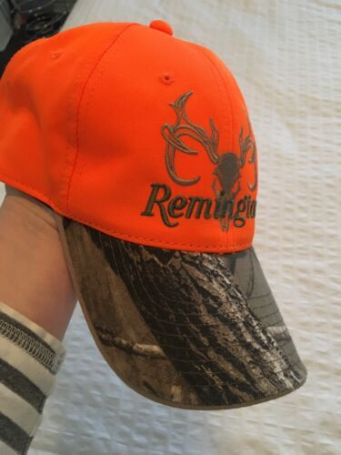 Remington Country Realtree Neon Orange Camouflage Hunting Adjustable Hat Cap Os