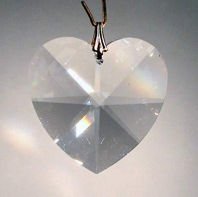 J'Leen Crystal Keyring - 28mm Clear Heart