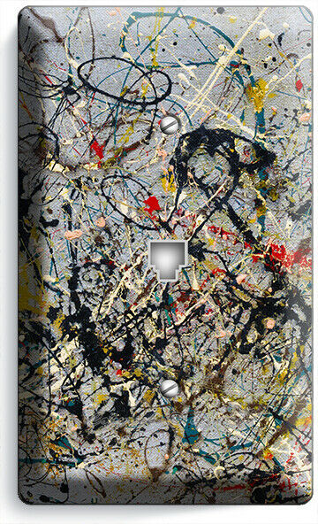 JACKSON POLLOCK INSPIRED ABSTRACT PHONE TELEPHONE WALL PLATE COVER ROOM HD DECOR