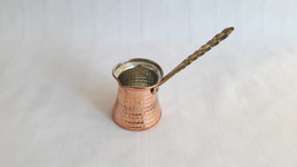 Gift for Coffee Lovers Copper Turkish Coffee Pot or Arabic Armenian Butt... - $28.75