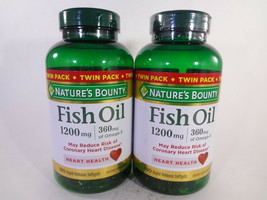 Nature's Bounty Twin Pack Fish Oil 180 Rapid Release Softgels EAch {VS-N} - $17.77
