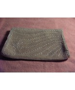 Vintage Faux Pearl Bead Champagne Satin Clutch Evening Bag Purse Made Japan - $64.35