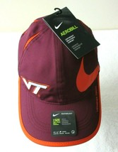 Nike Dri-Fit Mens Virginia Tech Hokies Featherlight Hat Maroon Burnt Orange NWT - £14.30 GBP