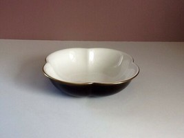 Wedgwood 'Time For Wedgwood' Bone China Black/White Scalloped Candy Dish... - $19.79