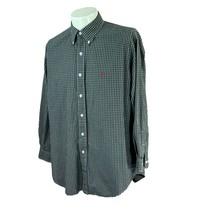 Ralph Lauren Men's Yarmouth 100% Cotton Dark Green Pink Check Shirt 16 3... - $23.27