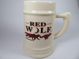 VTG Red Wolf Beer Mug Stein Anheuser Busch 16 ounce SEE NOTES - $44.95