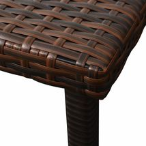 vidaXL Sunlounger w/ Table Poly Rattan Wicker Patio Sun Day Bed Lounge 2 Colors image 9