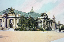 PARIS Grand Palace on Champs Elysees - 1900s Photo Chromotype Print Color - $10.33