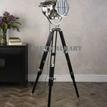 Designer Floor Lamp comes with Black Color Wooden Tripod Lamp By Nauticalmart - $296.01