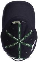 Lacoste Men's Navy Blue Gabardine Cotton Hat Big Croc Logo Strap Back Cap image 4
