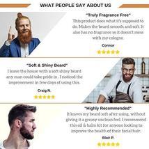 Naturenics Premium Beard Oil & Balm Wax Unscented Kit- Made with 100% Pure, Orga image 7