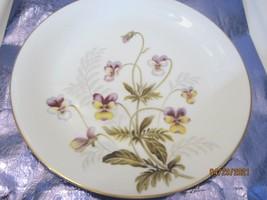 6 Beautiful Noritake Porcelain Dinner Plates Joyce 1574 Pansy  - $47.52