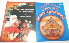 2 Sandra Malone Vintage Tole Painting Books Candy Cane Christmas, From X... - $15.83