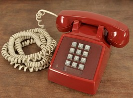 Western Electric Bell Burgundy Red G-6 Amplified Push Button Telephone - $81.26