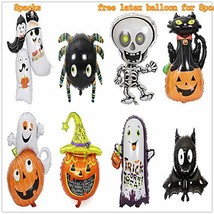 Theme Party Extra Large Happy Halloween Aluminum foil Inflatable Balloon... - $19.76