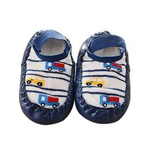 Toddler Baby Cartoon Thick and Warm Non-Slip Floor Socks 1 Pair, Dark Blue