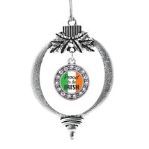 Inspired Silver Proud to be Irish Circle Holiday Decoration Christmas Tree Ornam - €12,80 EUR