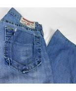True Religion Bobby Seat 34 Mens Blue Jeans W 32 L 34 - $35.99