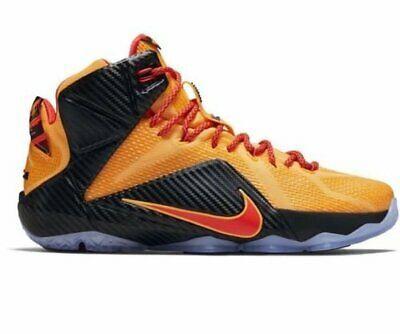 Nike Lebron 12 XII Orange Bright Crimson Men's Basketball Shoes 684593-830