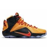 Nike Lebron 12 XII Orange Bright Crimson Men's Basketball Shoes 684593-830  - $199.99