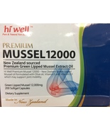 Hi Well Premium New Zealand Green Lipped Mussel 12000mg 200 Capsules - $154.13