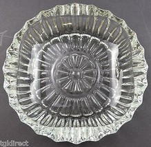 "Vintage Pasari Indonesia Clear Glass Ashtray 5.375"" Wide Home Decor Crystal - $8.99"