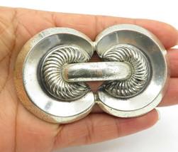MONET 925 Sterling Silver - Vintage Shiny Modernist Designed Brooch Pin ... - $117.34