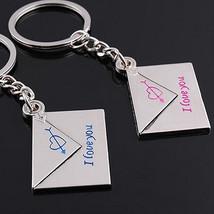 "2x Lover Keyrings envelope ""I love you"" Egraved Cupid Heart Ks keychains... - $5.99+"