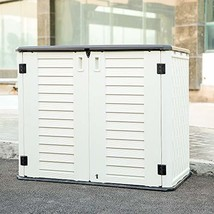 KINYING Storage Shed for Home and Outdoor Multi-function Storage Cabinet - $278.43