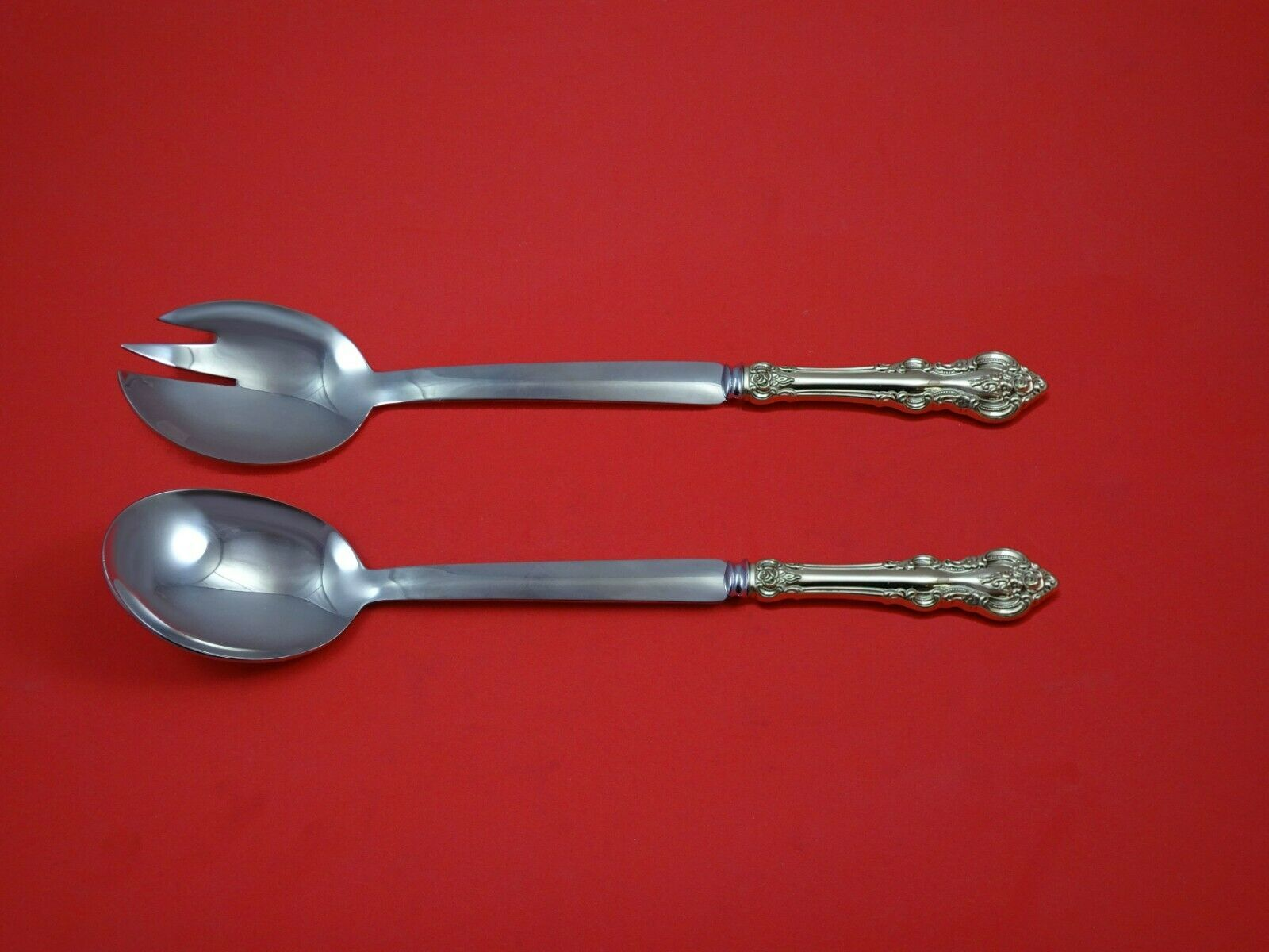 "Primary image for El Grandee by Towle Sterling Silver Salad Serving Set Modern 10 1/2"" Custom Made"