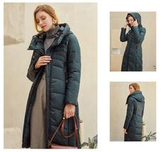 Women's  New Style Warm Solid Quilted Windproof Parka Coat image 8