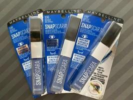 3 New Maybelline Snapscara Mascara 330 Delta Blue Smooth Clump Free Volume - $13.86