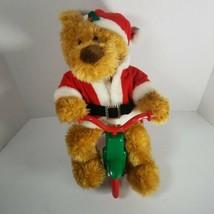 Avon Animated Cycling Santa Bear Plays Jingle Bells We Wish You Merry Ch... - $14.54