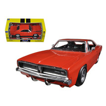 1969 Dodge Charger R/T Orange Muscle Car Collection 1/25 Diecast Model Car by... - $33.92