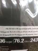STAY PUT LARGE 30'' X 96'' TABLE  BANQUET COVER , BLACK # 702000 - SEALED NEW! image 6
