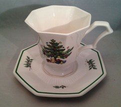 Very Pretty NIKKO Christmastime 7 Cups & 8 Saucers Made in Japan - $24.50