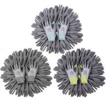 vidaXL 24 Pairs PU Palm Coated Work Gloves Super Comfort Gray White 3 Sizes - $22.99+