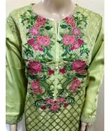 Mint Green Pakistani Masoori Kurta Embroidery, Fancy Thread work,X-Large - $54.45
