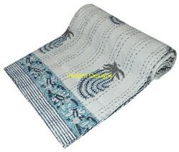 Indian Handmade Quilt Vintage Kantha Bedspread Throw Cotton Blanket Gudr... - £30.39 GBP
