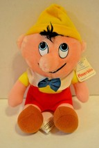 "Walt Disney Productions Pinocchio Plush Vintage Animated Film Classic 8"" Tags - $12.86"