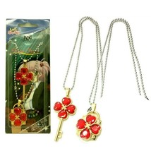 Shugo Chara Lock and key Modelling Lovers Pendant Necklace 2pcs red - $9.13