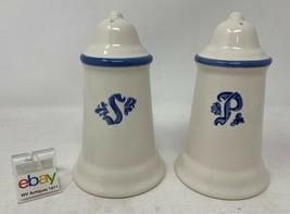 "Pfaltzgraff USA ""Blue Village"" Set of Salt and Pepper Shakers - Nice! - $8.99"